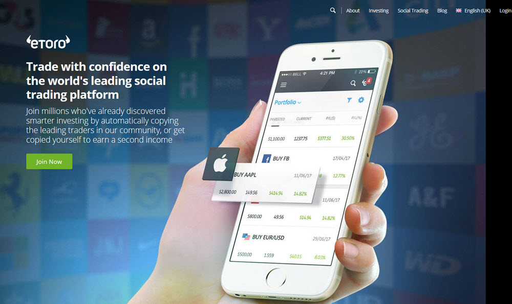 eToro website